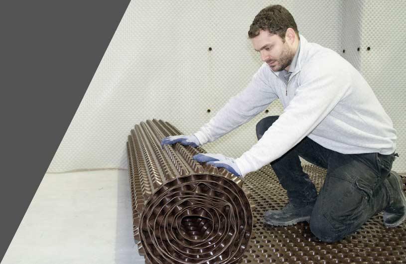 Delta basement floor membranes